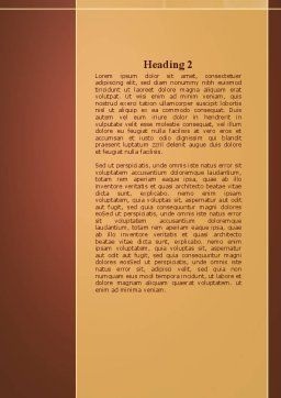 Bird's Nest Word Template, Second Inner Page, 09662, Nature & Environment — PoweredTemplate.com