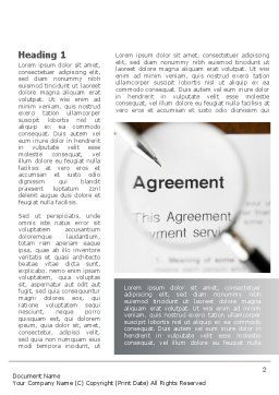 Studying And Signing Agreement Word Template, First Inner Page, 09664, Consulting — PoweredTemplate.com