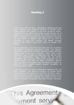 Studying And Signing Agreement Word Template, Second Inner Page, 09664, Consulting — PoweredTemplate.com