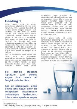 Taking Medication Word Template, First Inner Page, 09665, Medical — PoweredTemplate.com
