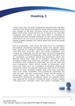Taking Medication Word Template, Second Inner Page, 09665, Medical — PoweredTemplate.com