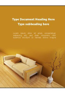 Lounge Word Template, Cover Page, 09666, Construction — PoweredTemplate.com