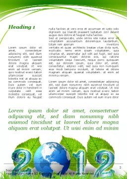 2012 Green Year Word Template First Inner Page