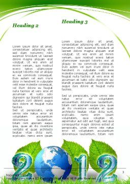 2012 Green Year Word Template Second Inner Page