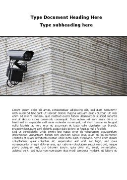 Surveillance Camera Word Template, Cover Page, 09671, Consulting — PoweredTemplate.com