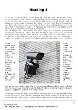 Surveillance Camera Word Template, First Inner Page, 09671, Consulting — PoweredTemplate.com