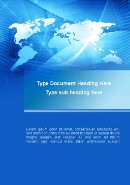 Blue Earth Map Word Template Cover Page
