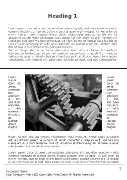 Gear Reducer Word Template First Inner Page