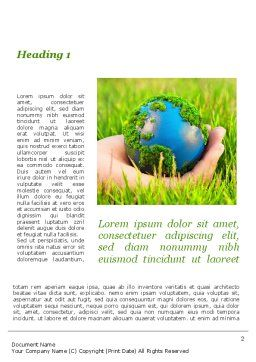 Earth In Hand Word Template First Inner Page