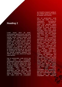 Red Blood Cells In A Blood Vessels Word Template, Second Inner Page, 09680, Medical — PoweredTemplate.com