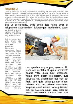 House Builder On Construction Site Word Template, First Inner Page, 09684, Construction — PoweredTemplate.com