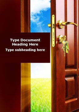 Door Into Summer Word Template, Cover Page, 09685, Construction — PoweredTemplate.com