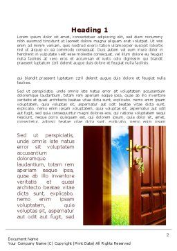 Door Into Summer Word Template, First Inner Page, 09685, Construction — PoweredTemplate.com