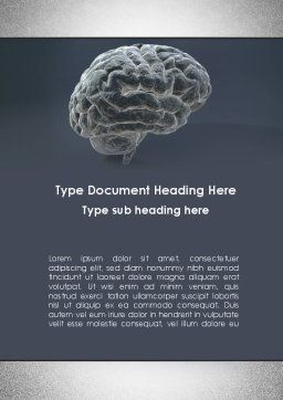 Human Brain Model Word Template, Cover Page, 09687, Medical — PoweredTemplate.com