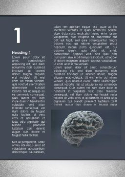 Human Brain Model Word Template, First Inner Page, 09687, Medical — PoweredTemplate.com