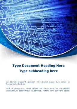 Print Circuit Board Word Template, Cover Page, 09688, Technology, Science & Computers — PoweredTemplate.com