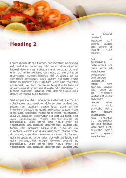 Fried Chicken Word Template, Second Inner Page, 09689, Food & Beverage — PoweredTemplate.com