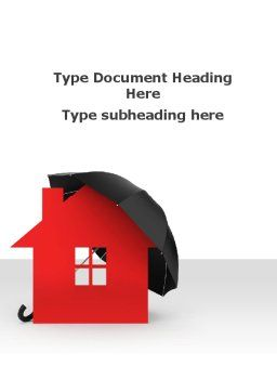 Home Insurance Word Template, Cover Page, 09690, Construction — PoweredTemplate.com