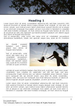 Mother Swings Her Daughter On A Swing Word Template, First Inner Page, 09691, Religious/Spiritual — PoweredTemplate.com