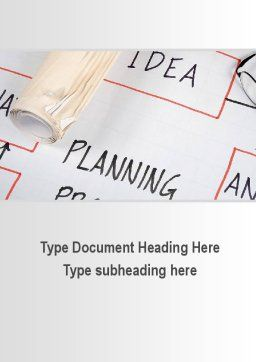Planning Idea Word Template, Cover Page, 09692, Business — PoweredTemplate.com