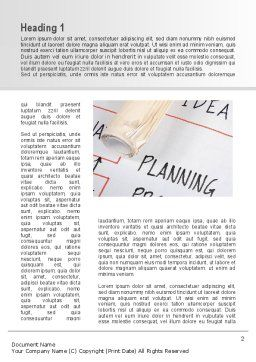Planning Idea Word Template, First Inner Page, 09692, Business — PoweredTemplate.com