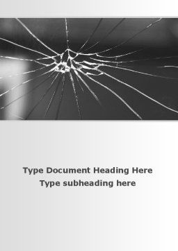 Broken Glass Word Template, Cover Page, 09695, Consulting — PoweredTemplate.com