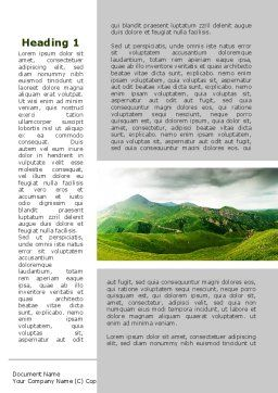Clouds Landscape Word Template, First Inner Page, 09696, Nature & Environment — PoweredTemplate.com