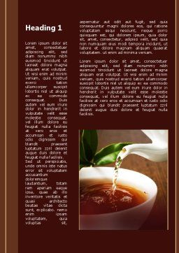Stream Of Tea Word Template First Inner Page