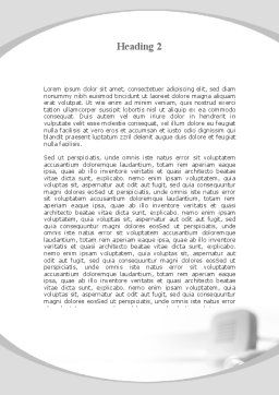 Telephone Handset Word Template, Second Inner Page, 09700, Telecommunication — PoweredTemplate.com