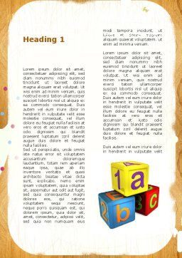 Cubes For Basic Education Word Template First Inner Page