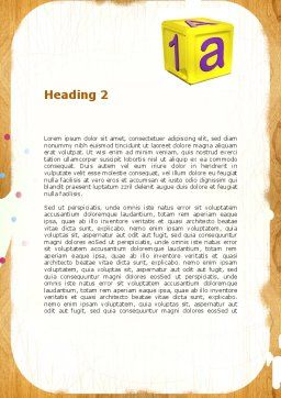 Cubes For Basic Education Word Template Second Inner Page