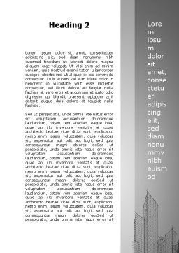 Sketch Of Skyscraper Word Template, Second Inner Page, 09705, Construction — PoweredTemplate.com