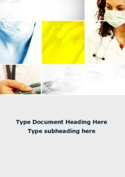 Doctor And Drugs Word Template, Cover Page, 09710, Medical — PoweredTemplate.com