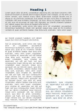Doctor And Drugs Word Template, First Inner Page, 09710, Medical — PoweredTemplate.com