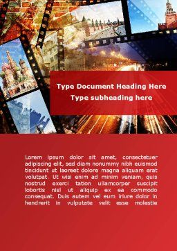 Moscow In Russia Word Template Cover Page
