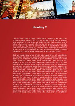 Moscow In Russia Word Template Second Inner Page