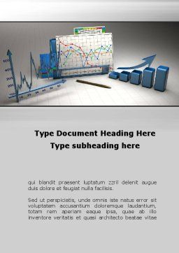Three-Dimensional Charts Word Template, Cover Page, 09714, Consulting — PoweredTemplate.com