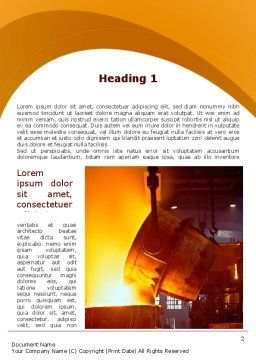 Steel Industry Word Template, First Inner Page, 09715, Careers/Industry — PoweredTemplate.com