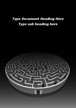 Fortress Labyrinth Word Template, Cover Page, 09717, Business Concepts — PoweredTemplate.com