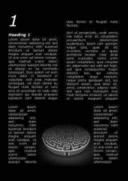Fortress Labyrinth Word Template, First Inner Page, 09717, Business Concepts — PoweredTemplate.com
