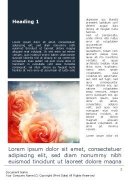 Tender Roses Word Template, First Inner Page, 09723, Holiday/Special Occasion — PoweredTemplate.com