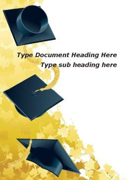 Mortarboard Ahead Word Template, Cover Page, 09726, Education & Training — PoweredTemplate.com