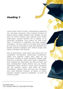 Mortarboard Ahead Word Template, Second Inner Page, 09726, Education & Training — PoweredTemplate.com