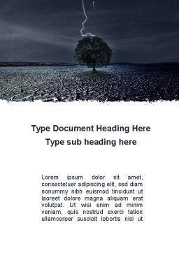 Stormy Weather Word Template, Cover Page, 09730, Nature & Environment — PoweredTemplate.com