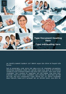 Team Of Like-Minded Word Template, Cover Page, 09735, People — PoweredTemplate.com