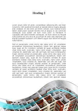 Model Of Apartment House Word Template, Second Inner Page, 09736, Construction — PoweredTemplate.com