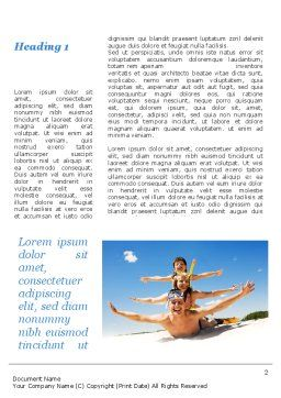 Happy Family On The Beach Word Template, First Inner Page, 09738, Holiday/Special Occasion — PoweredTemplate.com