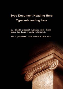 Ionic Capitals Word Template Cover Page