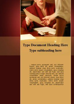 Transfer Of Documents Word Template, Cover Page, 09742, Business — PoweredTemplate.com
