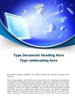 Multimedia Computer Word Template, Cover Page, 09744, Technology, Science & Computers — PoweredTemplate.com